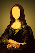 Illustrated Posters - Mona Lisa Poster by Setsiri Silapasuwanchai