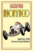 Advertisment Paintings - Monaco Grand Prix by Reproduction