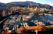 Monaco Art - Monaco harbor by Emanuel Tanjala