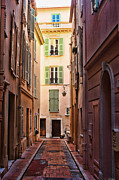 Historic Site Digital Art Metal Prints - Monaco street Metal Print by Tom Prendergast