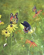 Art That Pops Framed Prints - Monarch Butterflies Framed Print by Donna Wiegand