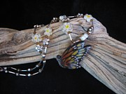 Insect Jewelry - Monarch Butterfly Necklace I4 by Barbara  Prestridge