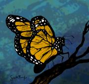 Monarch  Digital Art Framed Prints - Monarch Butterfly Framed Print by Scott Rolfe