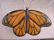 Painted Reliefs - Monarch Butterfly-SOLD by Lisa Ruggiero