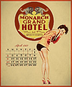 Retro Pinup Prints - Monarch Grand Hotel Print by Cinema Photography
