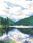 Kerry Neuville Paintings - Monarch Lake by Kerry Neuville