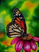 Monarch Butterfly Paintings - Monarch by Maria Barry