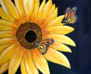 Yello Paintings - Monarchs in Harmony by Saleires Art