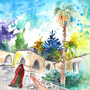 Napa Drawings Prints - Monastery in Ayia Napa Print by Miki De Goodaboom