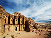 Petra Framed Prints - Monastery Framed Print by Julian Kaesler