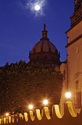 Moon Detail Prints - Monastery of Las Monjas with Full Moon Print by Jeremy Woodhouse