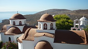 Greek Photos - Monastery of St Savas by Therese Alcorn