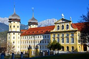 Cistercians Prints - Monastery of Stams in Austria Print by Elzbieta Fazel
