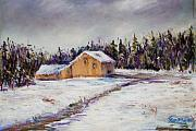 Snow Pastels - Mondauk Road by Joyce A Guariglia