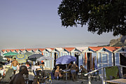 Cabanas Prints - Mondello Beach Life Print by Madeline Ellis