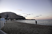 Sicily Prints - Mondello Beach Sunset Print by Madeline Ellis
