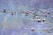 Pinks Posters - Monet blue Poster by Carolyn Dalessandro