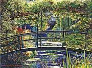 Attractive Framed Prints - Monet Framed Print by David Lloyd Glover