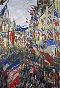 Republican Metal Prints - Monet: Montorgeuil, 1878 Metal Print by Granger