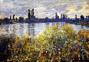 Vetheuil Framed Prints - Monet: Seine/vetheil, 1880 Framed Print by Granger