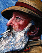 Self Portraits Art - Monet by Tom Roderick