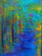 Abstract Bull Painting Posters - Monet Woods Poster by Claire Bull