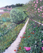 Tom Roderick Painting Originals - Monets Garden Path by Tom Roderick