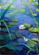 Lilly Pad Prints - Monets Garden Print by Susan Jenkins