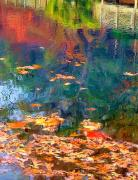 Abstract Water Fall Posters - Monets Pond Poster by Tom Griffithe
