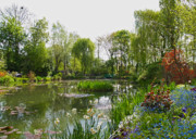 Water Garden Metal Prints - Monets Water Garden at Giverny Metal Print by Alex Cassels