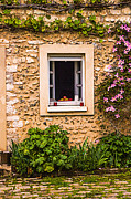 Giverny Prints - Monets Window Print by Jim  Hatch