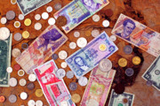 Cinco Mil Sucres Photo Posters - Money from Around the World Poster by Thomas R Fletcher