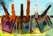 Clothespins Digital Art - Money Laundering  by Karon Melillo DeVega