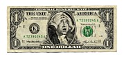 Benjamin Franklin Prints - Money Worries, Conceptual Artwork Print by Smetek