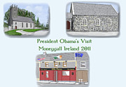 Obama Paintings - Moneygall Collage by David O Reilly