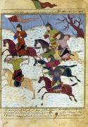 Skirmish Framed Prints - MONGOL BATTLE, c1400 Framed Print by Granger