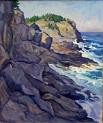 Thor Painting Originals - Monhegan Coast by Thor Wickstrom