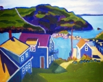 Island Painting Originals - Monhegan Harbor by Debra Bretton Robinson