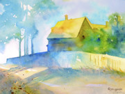 Monhegan Island Morning Print by Jo Lynch