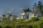 J R Baldini Metal Prints - Monhegan Shoreline Metal Print by J R Baldini