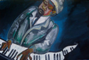 Black History Paintings - Monk by Janie McGee