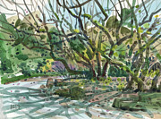 Garden Pastels Originals - Monk Trees  by Donald Maier