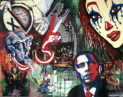 Obama Mixed Media - Monkey Business by Nunzio Barbera
