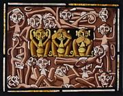 Monkeys Print by Victoria Millard