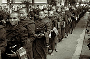 Burma Prints - Monks in the monastery Print by RicardMN Photography
