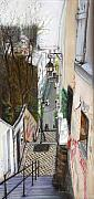 Streetscape Pastels - Monmatre Paris by Leonor Thornton