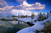 Tufa Posters - Mono Lake South Tufa In Winter Poster by Buck Forester