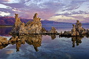 Purple Clouds Acrylic Prints - Mono Lake Sunset Acrylic Print by Dave Dilli