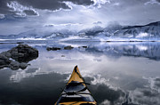Winter Storm Photos - Mono Lake Winter Kayak by Brian Ernst