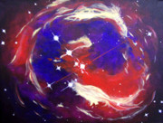 Constellation Paintings - Monocerotis by Lee Ann Petropoulos